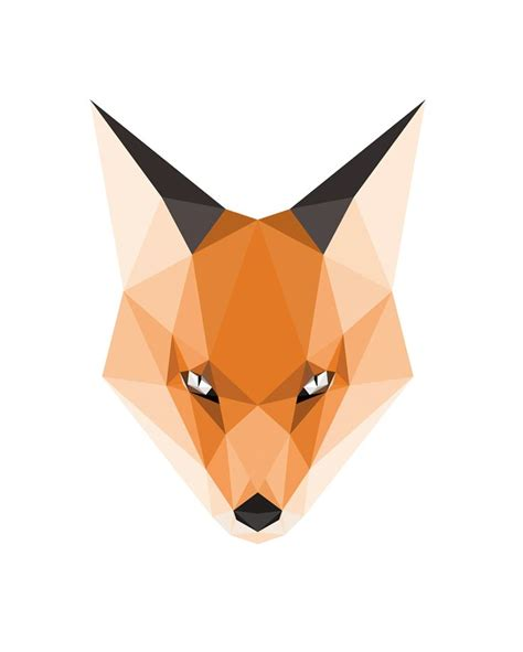 1000 ideas about geometric fox on pinterest geometric