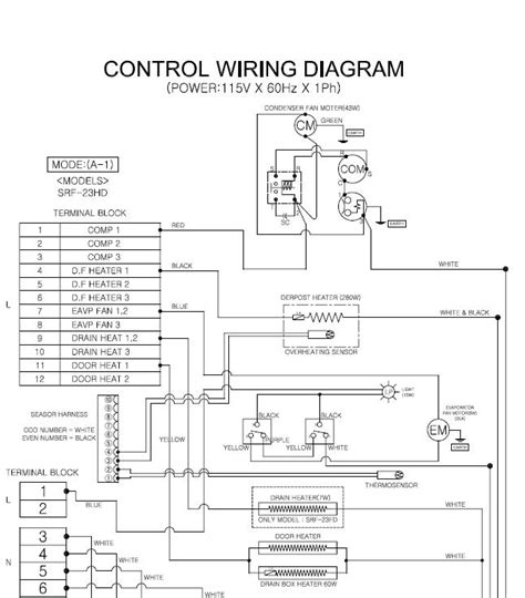freezer door heater wiring diagram heater wire trim