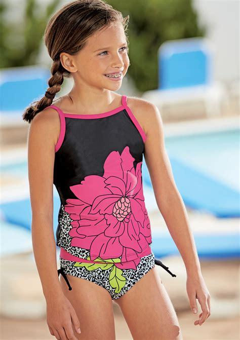 Preteen Swim | from cwdkids flower tankini swim suit preteen fashion