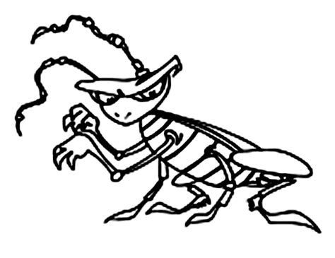 cartoon cockroach coloring pages grig3 org