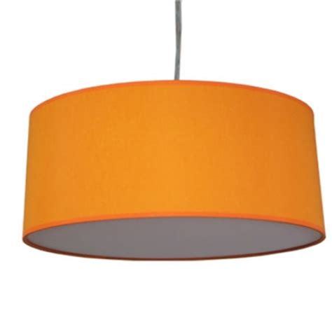 Orange L Shades Uk by Xl Drum Shade And Suspension In Orange Cotton Imperial