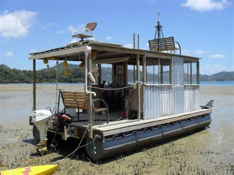 home built pontoon boat homemade pontoon boat plans diy pontoon tiny houses