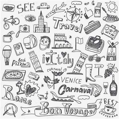 doodle lã sung italy travel doodles stock vector 169 topform 85495884