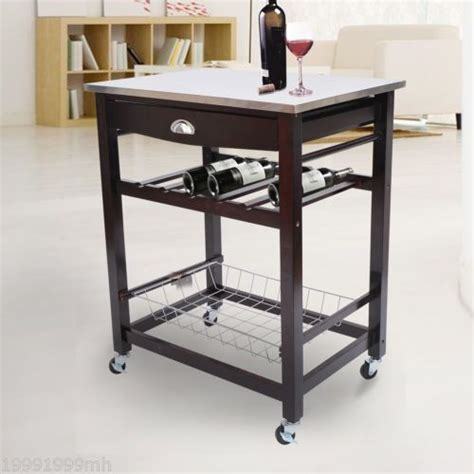 kitchen island trolley kitchen island trolley cart wooden wine holder rack