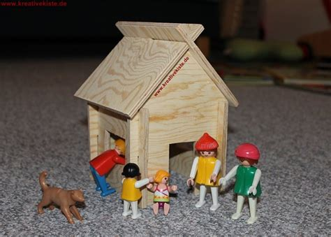 selber bauen haus schleich und playmobil holz haus bauen