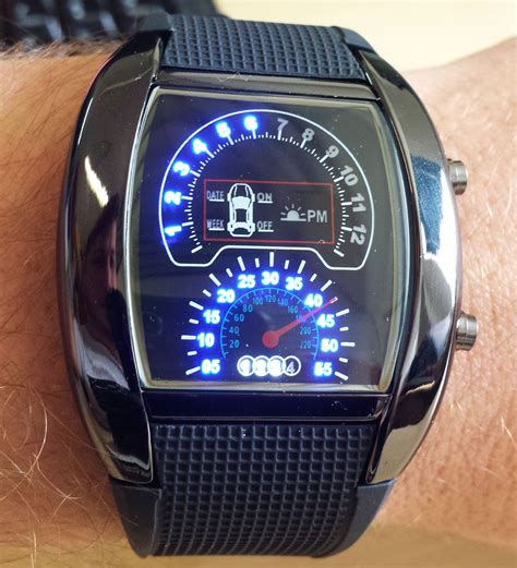 Jam Tangan Digital V2 streetfx motorsport and graphics rpm tachometer led