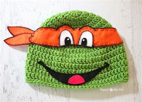 pattern for ninja turtle face crochet ninja turtle hat pattern repeat crafter me