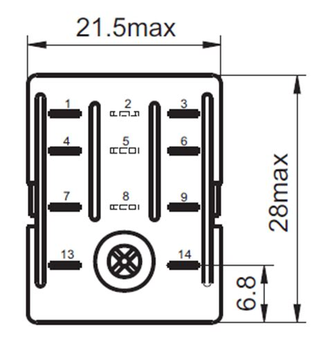 8 pin dpdt relay wiring diagram 8 get free image about