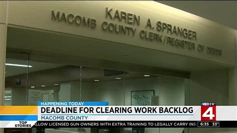Macomb County Clerk S Office by Macomb County Clerk Spranger S Office Given Thursday