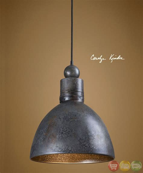 Single Pendant Lights Adelino Rustic Single Pendant Light Fixture 21976