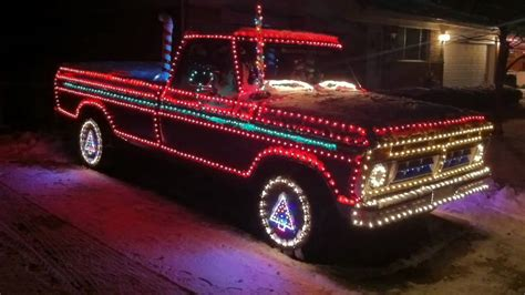 christmas lights on ford pickup truck youtube