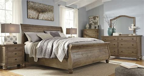 sleigh bedroom set king trishley light brown king sleigh bed b659 78 76 99 ashley