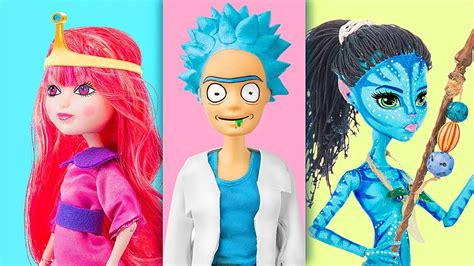 cartoon characters doll version  clever barbie hacks