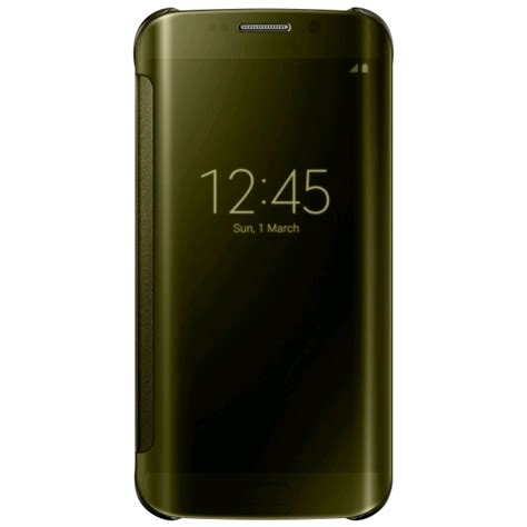 Samsung S6 Edge Gold samsung clear view cover for samsung galaxy s6 edge gold