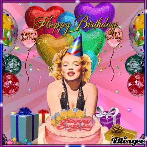 Marilyn Birthday Card Happy Birthday Marilyn Monroe Picture 113256327 Blingee Com