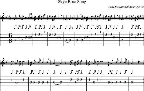 skye boat song mandolin tab traditional and folk songs guitar tab with sheet music
