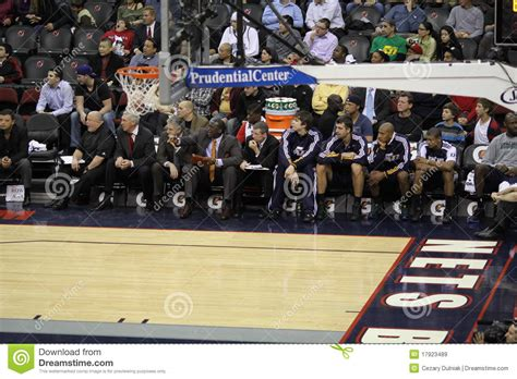 nba benches nba utah jazz bench editorial stock image image 17923489
