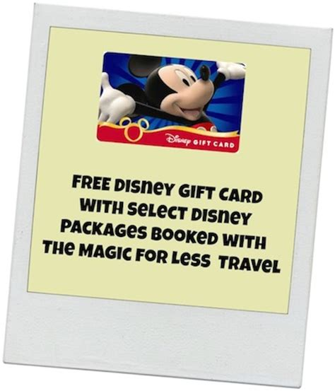 Walt Disney World Gift Card - disney world gift certificate car wash voucher