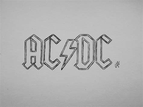 ac dc logo tattoo top ac dc logo drawings images for pinterest tattoos