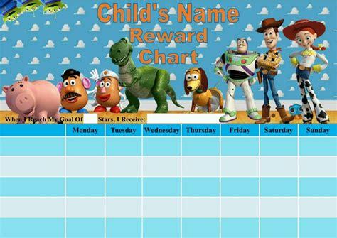 printable reward charts toy story personalised toy story reward chart potty training