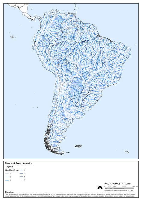 rivers of south america map aquastat fao s information system on water and agriculture