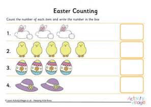 easter counting worksheet 1