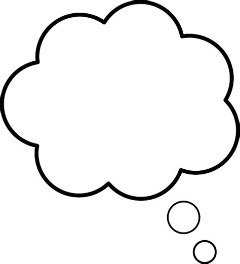Thinking Outline by Free Vector Graphic Cloud Speaking Speech Free Image On Pixabay 295290