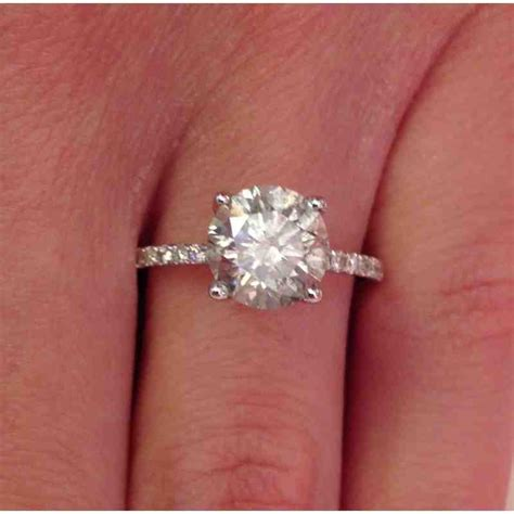 2 carat solitaire engagement rings www imgkid