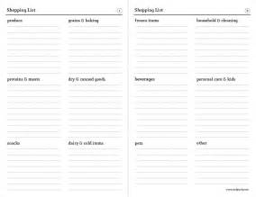 Easy Shopping List Template 6 Best Images Of Simple Printable Grocery Lists Blank