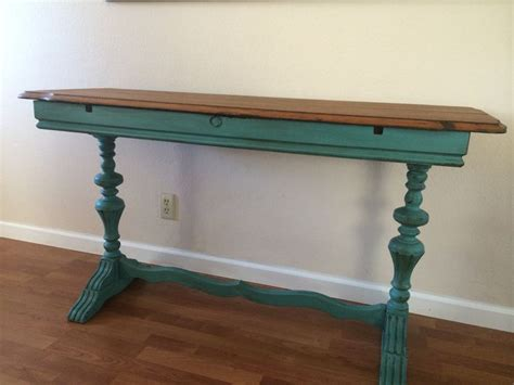 Teal Entryway Table Chalk Paint Teal Entry Table Cool Home Decorating Stuff