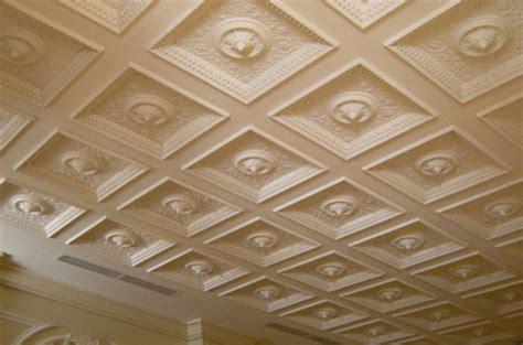 soffitti a cassettoni decorati controsoffitti