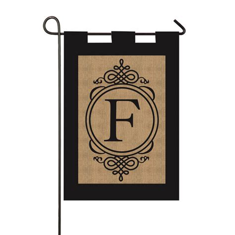 Initial Garden Flags by Burlap Monogram Initial Garden Flags In The Wind Flags