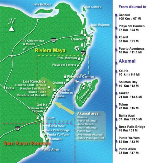 riviera map where is the mayan riviera in mexico map