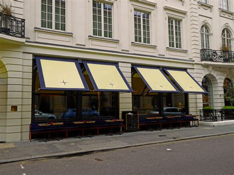 new awnings new awnings to isabel restaurant in mayfair morco blinds