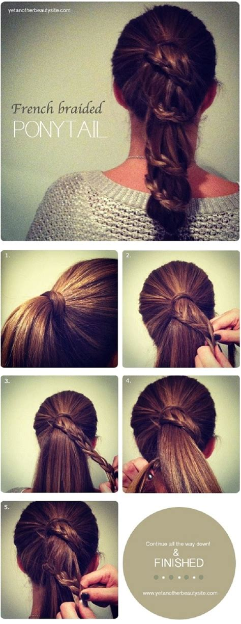 easy hairstyle tutorials for hair 15 and easy ponytail hairstyles tutorials popular