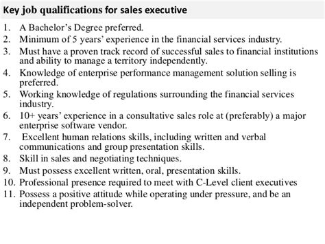 sales executive description