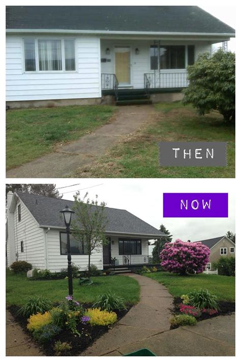 home curb appeal before and after 10 before and after curb appeal photos pretty purple door