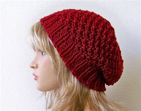 beanie hats to knit slouchy beanie knit pattern a knitting