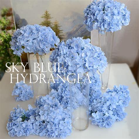 36 Pcs Artificial Silk Hydrangea Flower Floral Wedding Aliexpress Buy Artificial Silk Hydrangea Flower Wedding Bouquet Decoration Or Diy