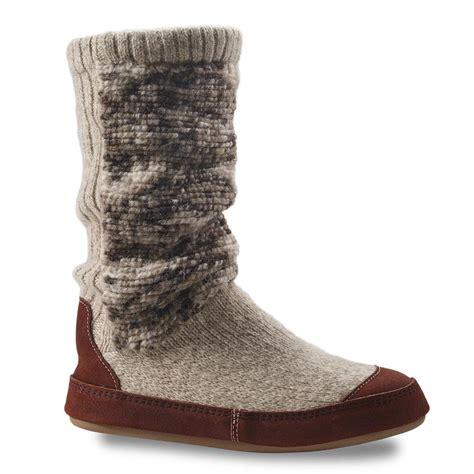 boot slipper kenco outfitters acorn s slouch boot slipper socks