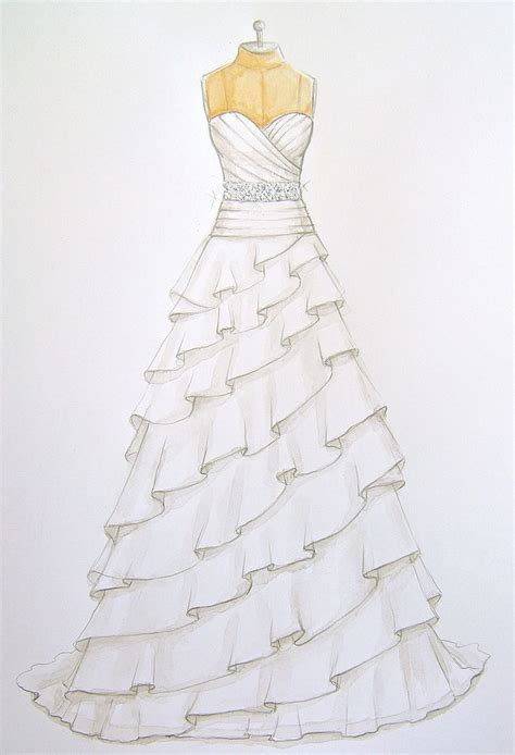 17 Best ideas about Dress Sketches on Pinterest   Dress