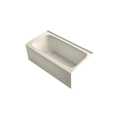 kohler seaforth bathtub kohler seaforth 4 5 ft right drain soaking tub in almond