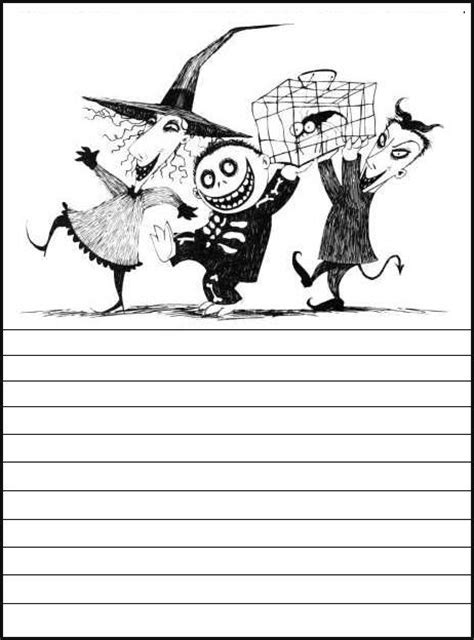 nightmare before printable template card 13 best stationery for print images on