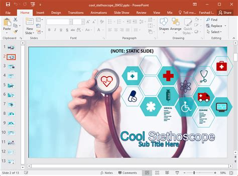 powerpoint design health animated medical images powerpoint template