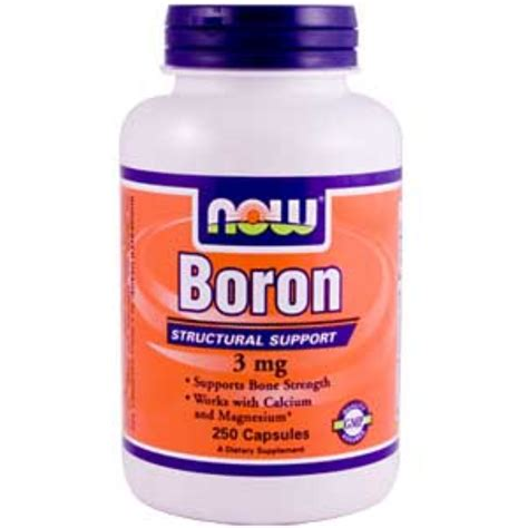 Boron Detox by Now Foods Boron 3 Mg 250 Capsules Iherb