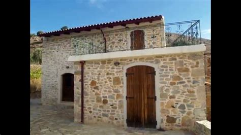 stone house real estate seaside real estate in greece traditional stone house for sale in crete youtube