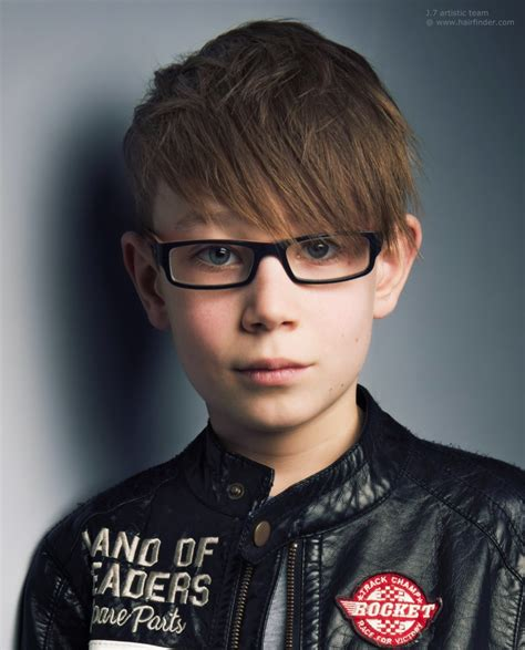modern haircut for little boys with glasses