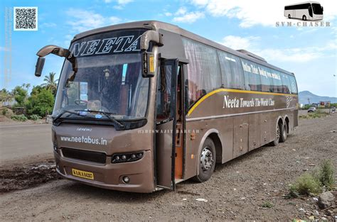 Bangalore To Pune Sleeper by Neeta B9r Multiaxle Volvo Semi Sleeper Biswajit Svm Chaser