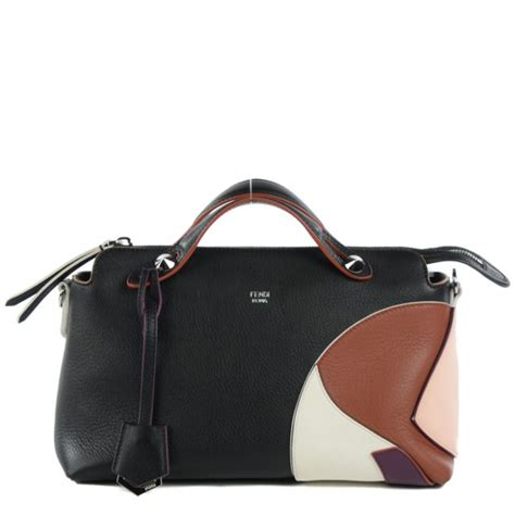 Fendi By The Way Tricolours fendi calfskin small by the way tricolor boston black 120239