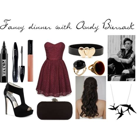 Fancy dinner with Andy Biersack   Polyvore